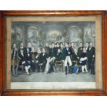 The Illustrious Sons of Ireland, after a painting by John Donaghy (1838-1931). A large hand-coloured