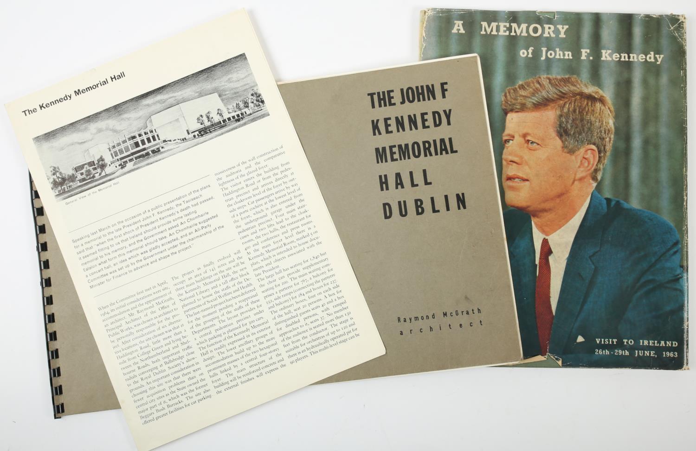 "John F Kennedy Memorial Hall Dublin, Raymond McGrath Architect, 1969, prospectus. 9½"" x 14½"" (24 x"