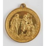 Dublin, The Corporation of Dublin and Dr Charles Lucas, 1749, a gilt medal by T. Pingo, Justice