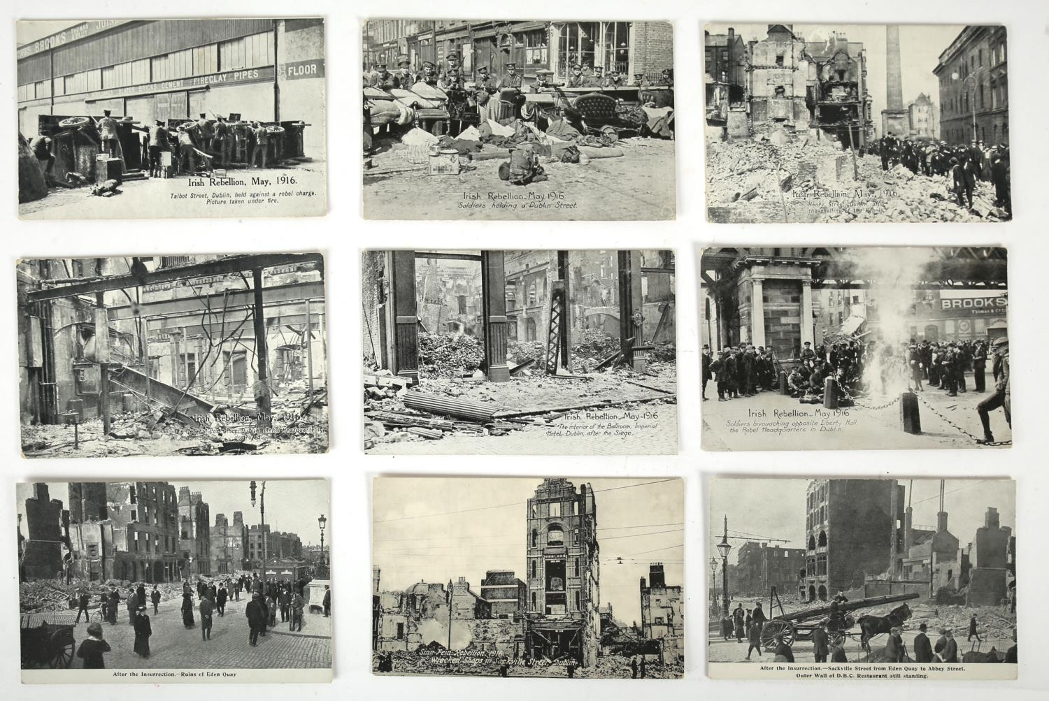 1916 Rising and aftermath. A collection of 15 1916 Rising postcards, including six attractively - Image 2 of 4