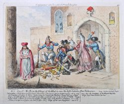 1798 Consequences of a Successful French Invasion, cartoon by Gillray. After James Gillray (1757-