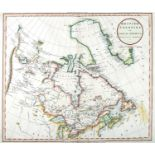 1811 British Colonies in North America and 1830 Map of North America. A hand-coloured engraved map