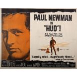 Cinema poster. 'Hud', 1963, movie poster for the drama starring Paul Newman, Melvyn Douglas and