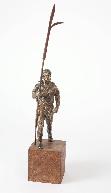 Wexford pikeman after Oliver Sheppard. A bronze miniature version of Sheppard's 1905 pikeman - Image 2 of 2