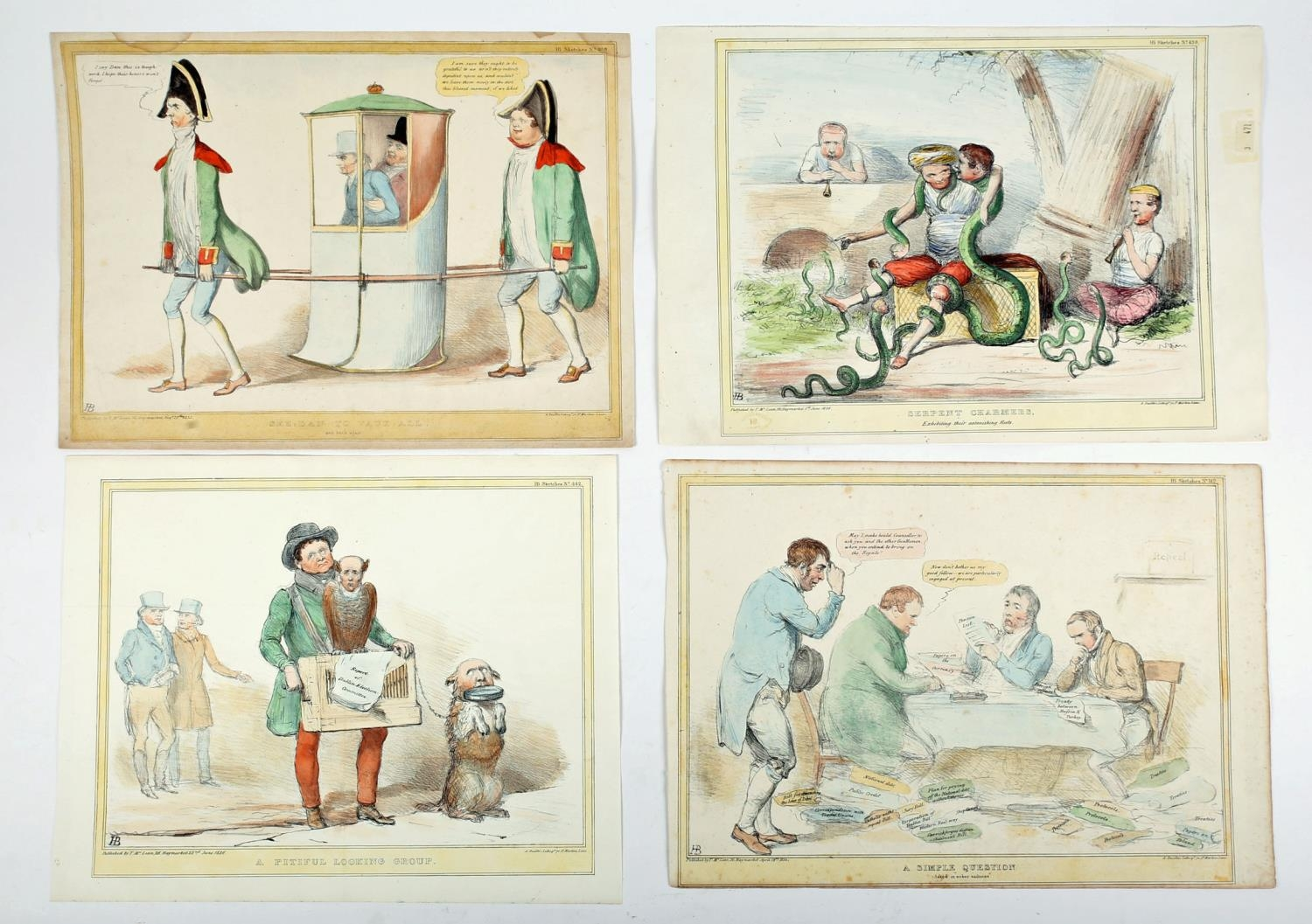 1834-36 Daniel O'Connell, four cartoons featuring the Liberator. Includes O'Connell as a large green - Image 2 of 2