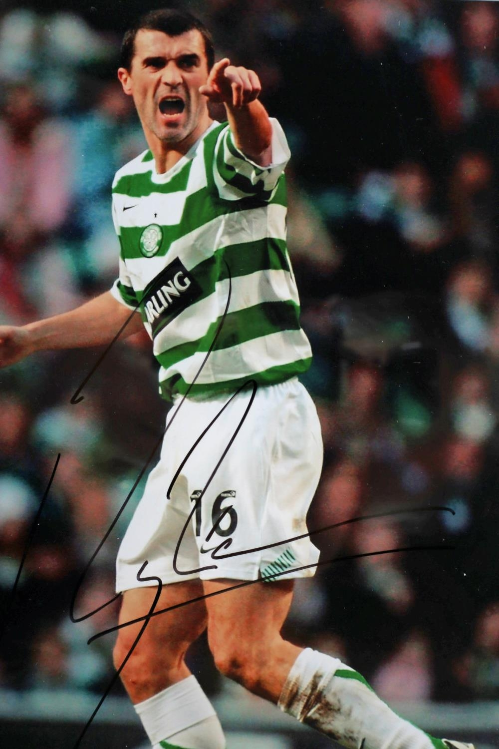 Football 2006 a colour photograph of Roy Keane, in Celtic strip, signed by Keane; together with a - Image 2 of 5