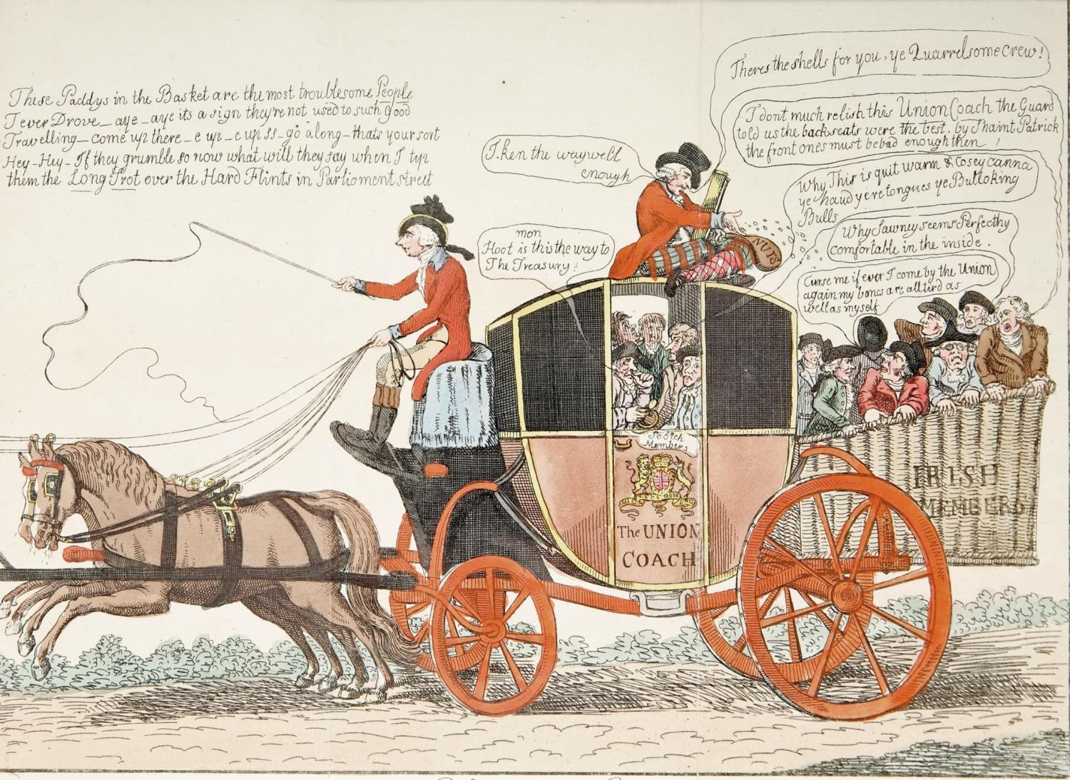 Daniel O'Connell, cartoons and portrait engravings. A hand-coloured engraved portrait of Daniel O' - Image 3 of 5