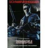 """Cinema poster. Terminator 2: Judgment Day, Tri-Star. US one sheet, 39¾"""" x 27"""" (101 x 69cm) double-"""