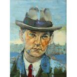 "Tom Byrne (20th/21stC) Irish. Michael Collins. Oil on canvas, 16"" x 12"" (41 x 30cm) Signed."