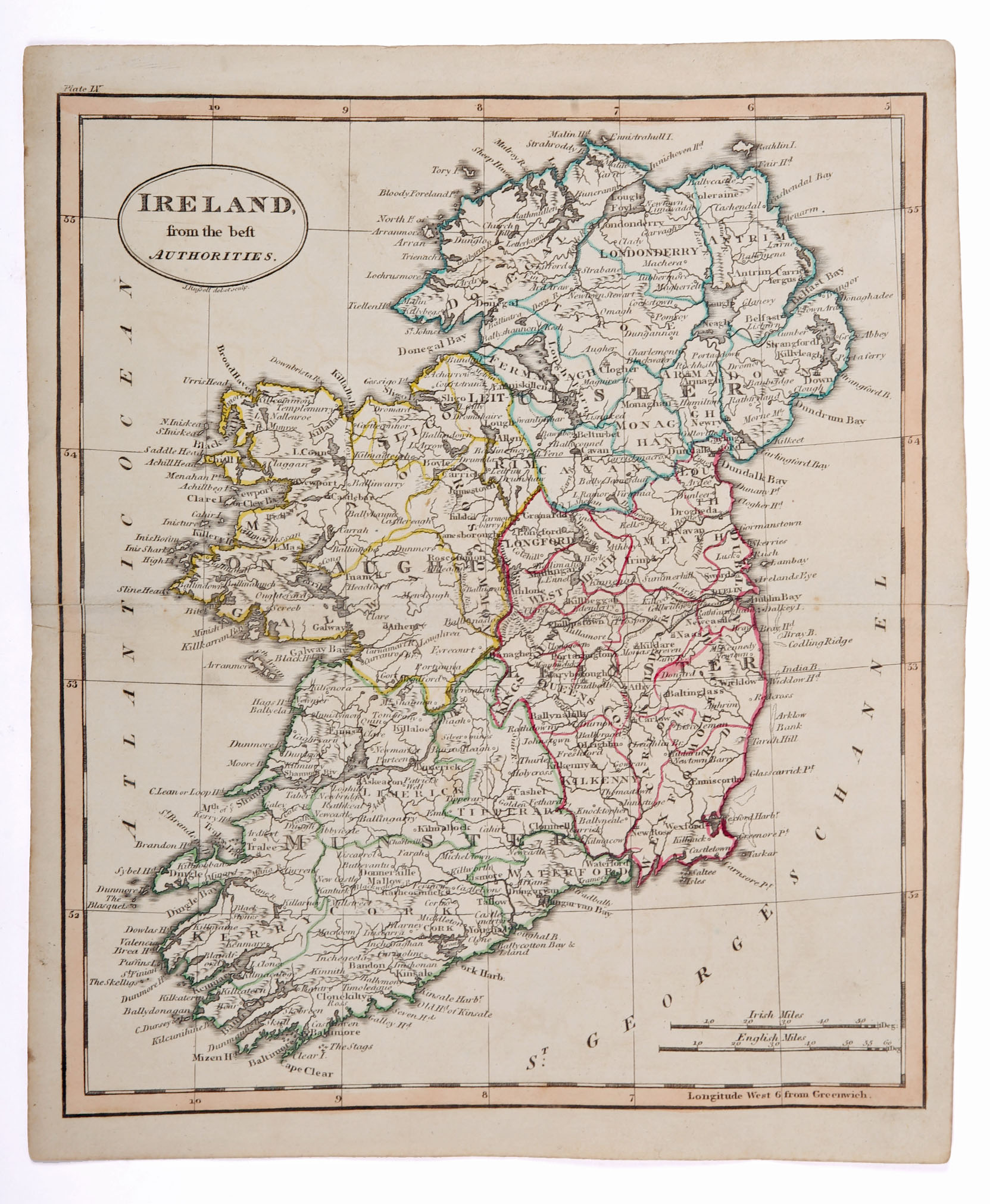 Maps of Ireland. 1744 Map of Ireland by Richard William Seale, Map of the Kingdom of Ireland From - Image 3 of 3