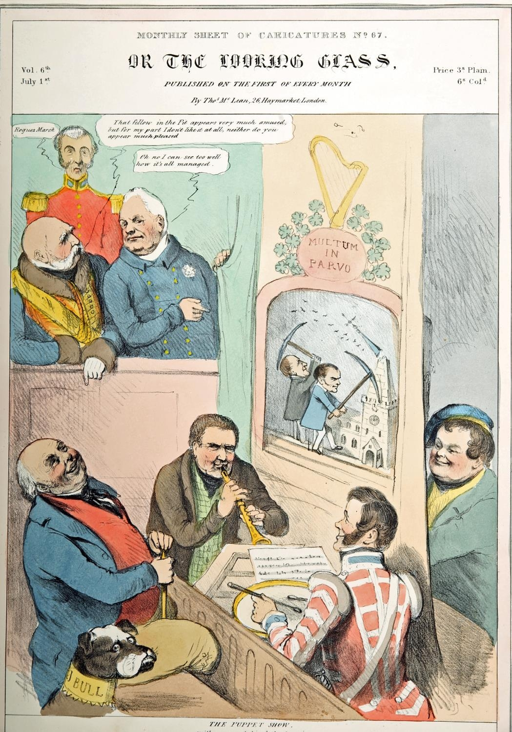 Daniel O'Connell, cartoons and portrait engravings. A hand-coloured engraved portrait of Daniel O' - Image 4 of 5