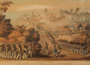 Moore (Lieut. Joseph). Views taken at or near Rangoon, T. Clay, 1824 - 1826, five aquatints engraved