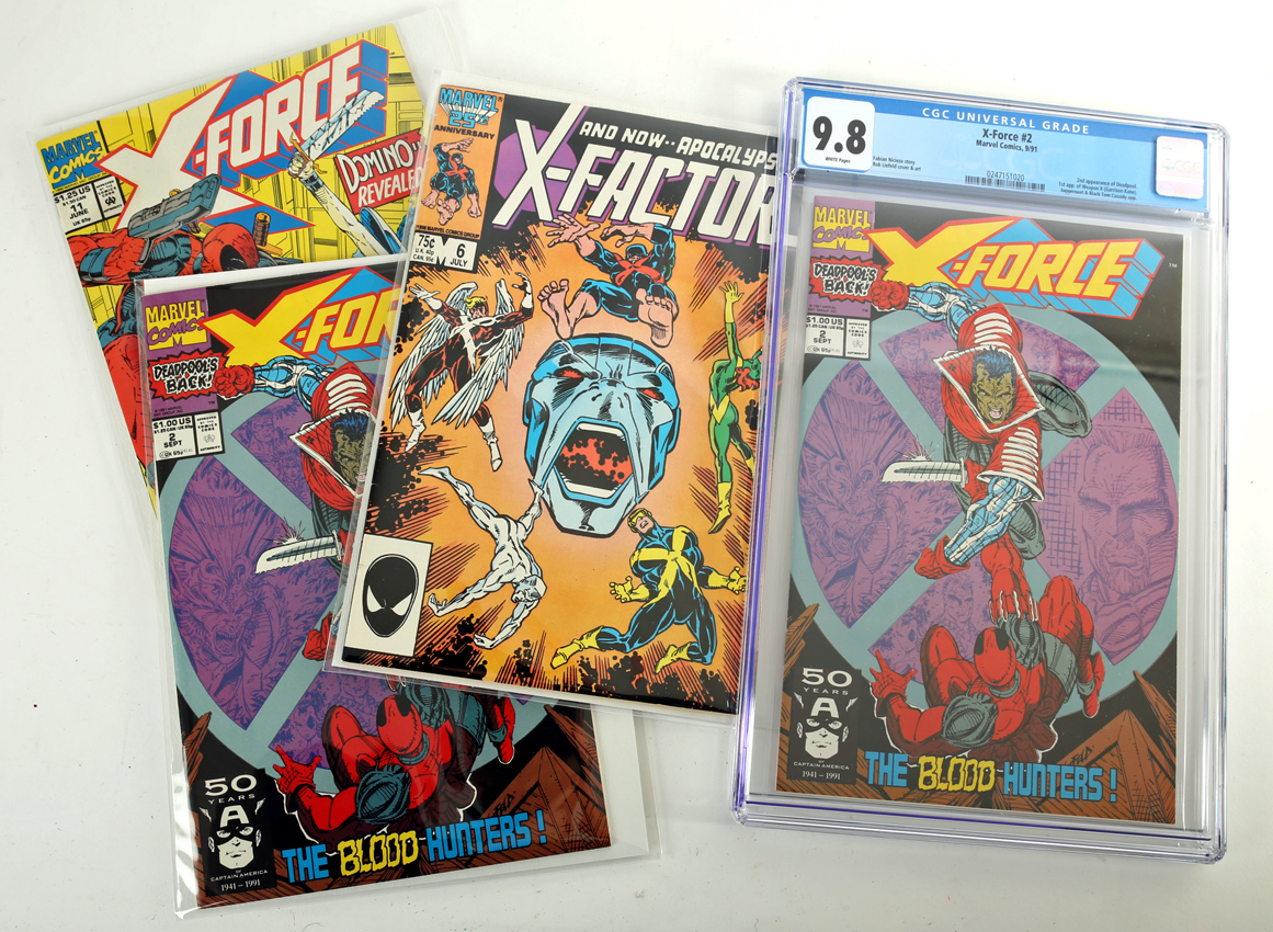 Comics, X-Force #2 & #11 and X-Factor #6, (Marvel, 1986-1991) X-Force #2 CGC certified and graded - Image 2 of 2