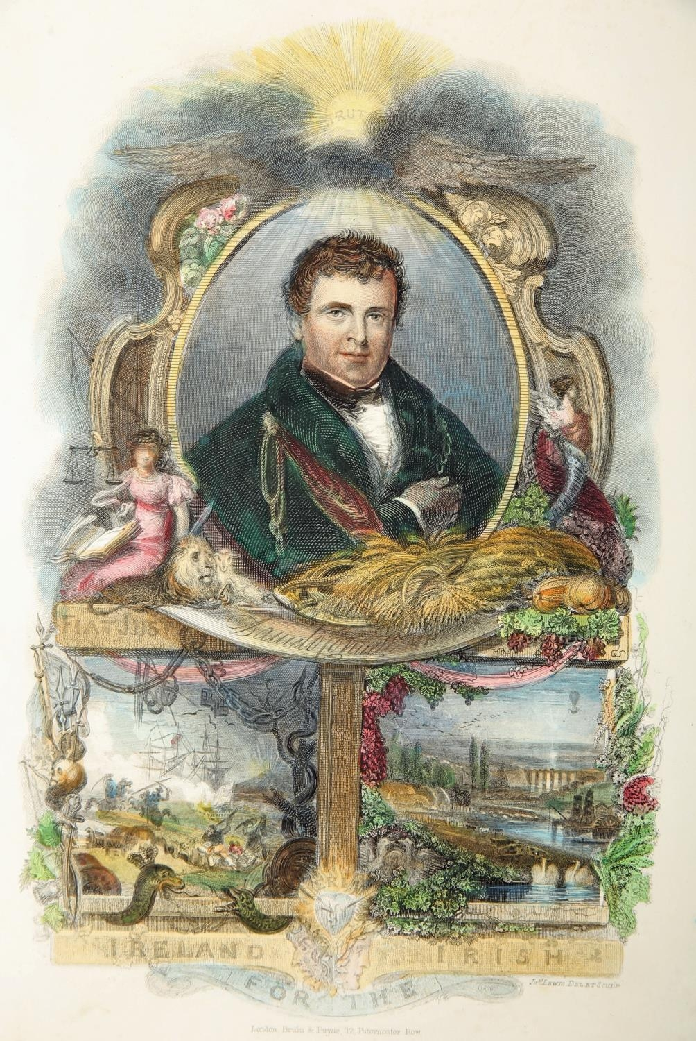 Daniel O'Connell, cartoons and portrait engravings. A hand-coloured engraved portrait of Daniel O' - Image 2 of 5