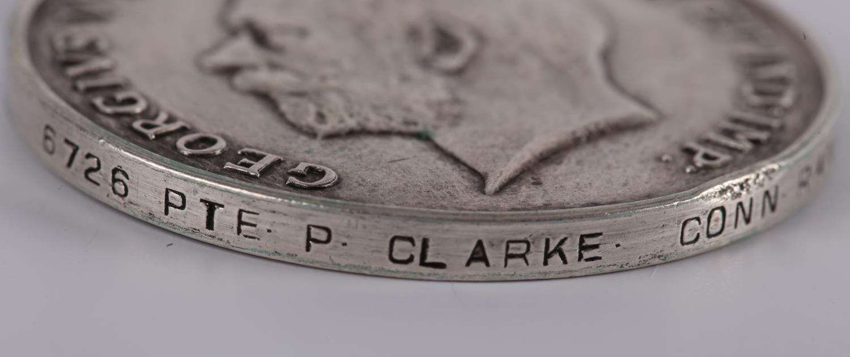 1914-18 Great War. Four British War Medals to Irish Regiments, 6726 PTE. P. CLARKE. CONN. RANG.; - Image 2 of 5