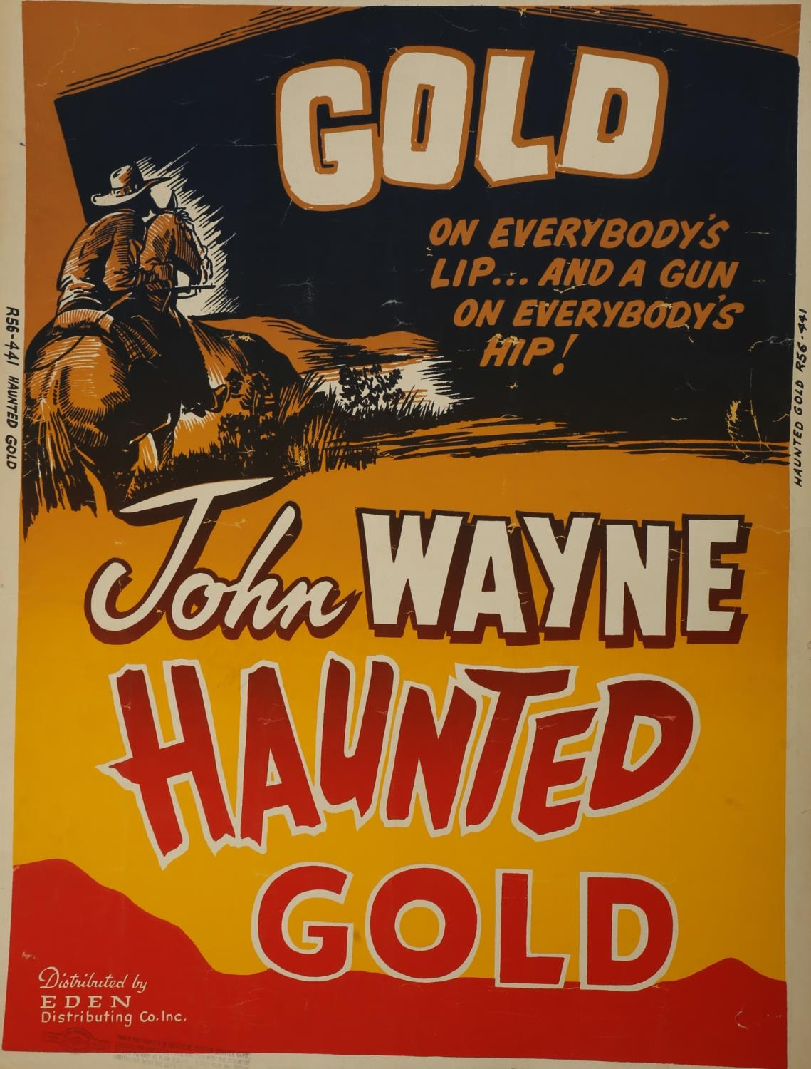 A collection of seven cinema posters for Western films, Haunted Gold, R-1956, (US one sheet); Chisum - Image 7 of 7