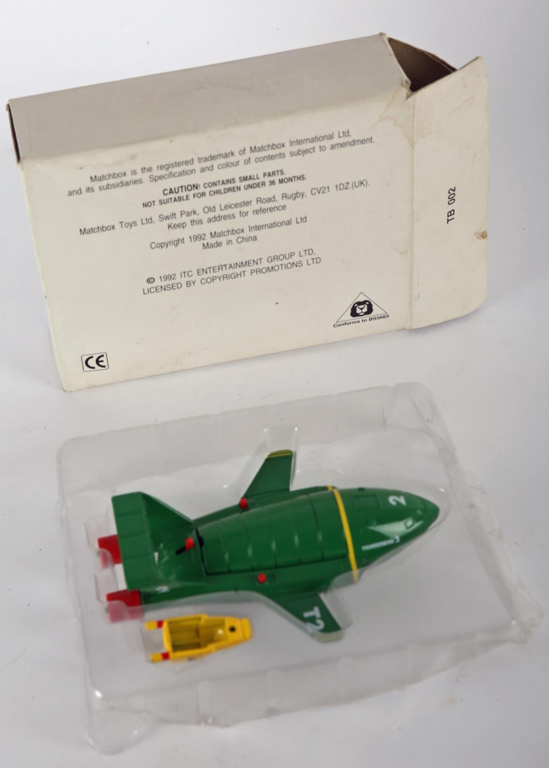 Thunderbirds. Matchbox Toys, diecast Thunderbirds T2 and T4, green T2 with retractable legs and - Image 4 of 4