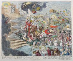 1805 End of the Irish Farce of Catholic Emancipation, cartoon by Gillray. After James Gillray (