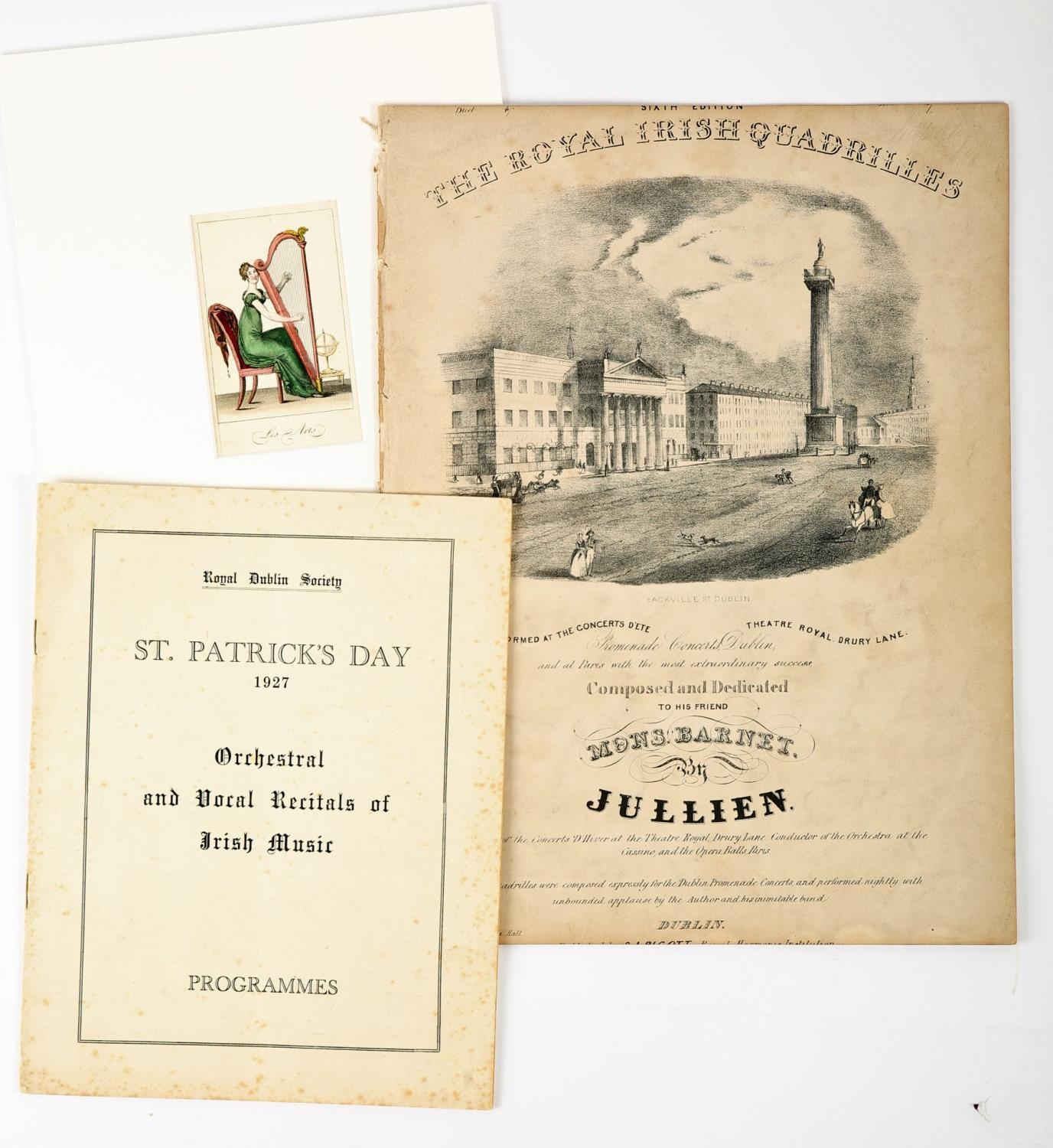 """Song Sheet, 19th century, """"Limerick Races"""", """"Sung with great Eclat by Sam Collins"""", lithograph - Image 2 of 2"""