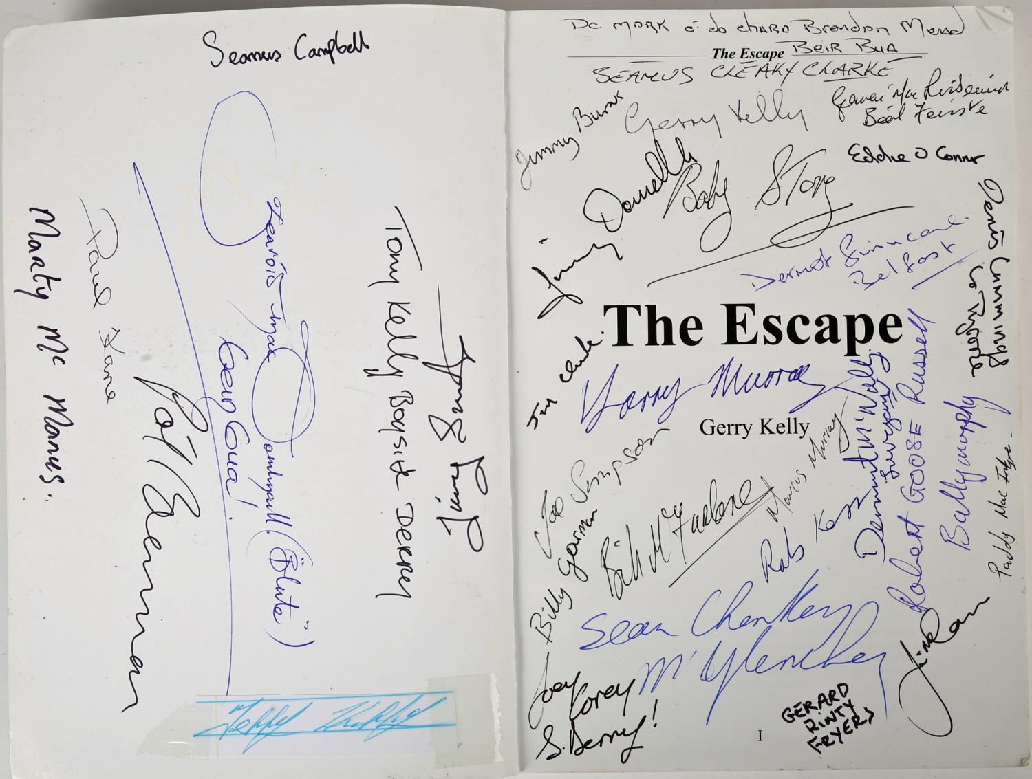 Kelly, Gerry. The Escape: The Inside Story of the 1983 Escape from Long Kesh Prison, signed by the