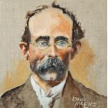 "David McEwen, Irish. Tom Clarke. Oil on canvas, 12"" x 12"" (30 x 30cm) Signed."