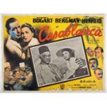 "Casablanca. Warner Bros., R-1950s, Mexican lobby card, 12½"" x 16½"" 32 x 42cm). Scarce."