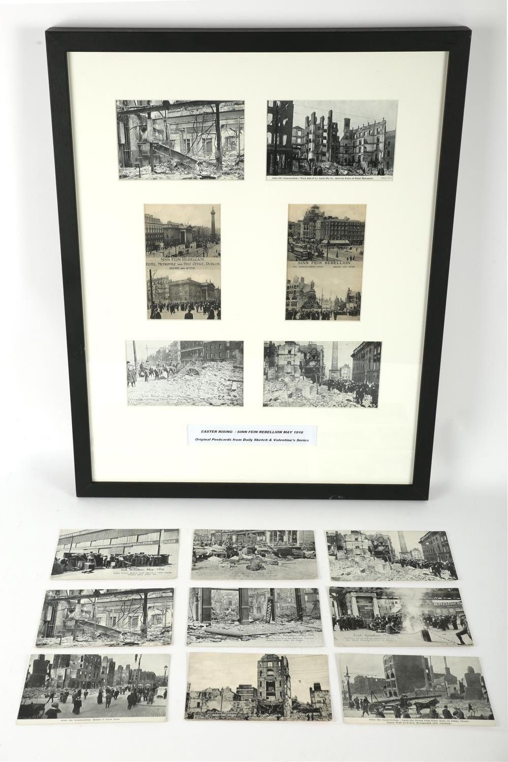 1916 Rising and aftermath. A collection of 15 1916 Rising postcards, including six attractively