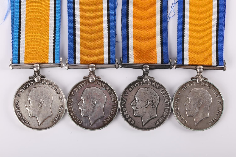 1914-18 Great War. Four British War Medals to Irish Regiments, 6726 PTE. P. CLARKE. CONN. RANG.;