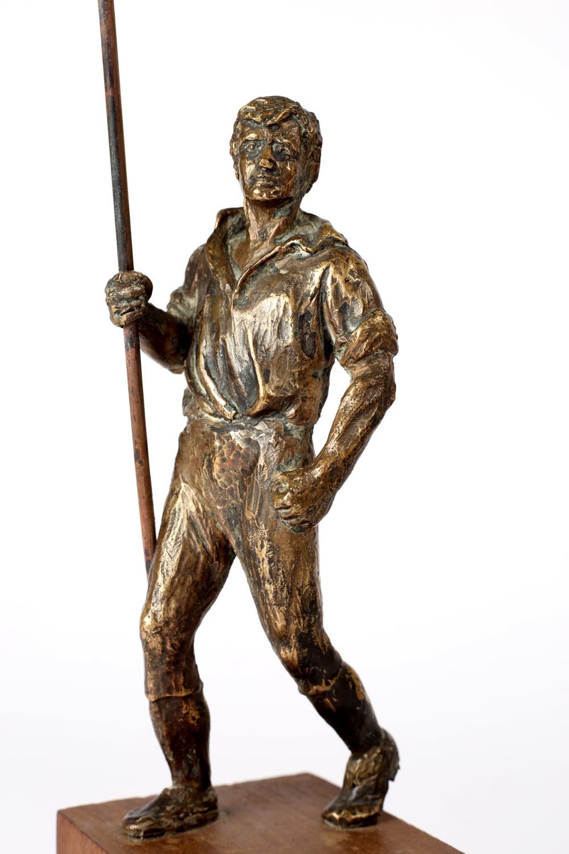 Wexford pikeman after Oliver Sheppard. A bronze miniature version of Sheppard's 1905 pikeman