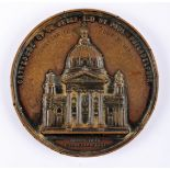 1864 Cathedral of St. Peter and St. Paul, Philadelphia medal, copper, 80 mm. 230g, by Anthony C.