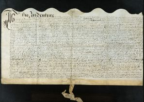 A Charles II document. 1678 (May 13) Deed of Transfer of property from Daniel Hall, Bastergate to