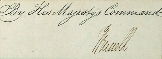John Russell, 1st Earl Russell (1792?1878) autograph of the British statesman and twice Prime