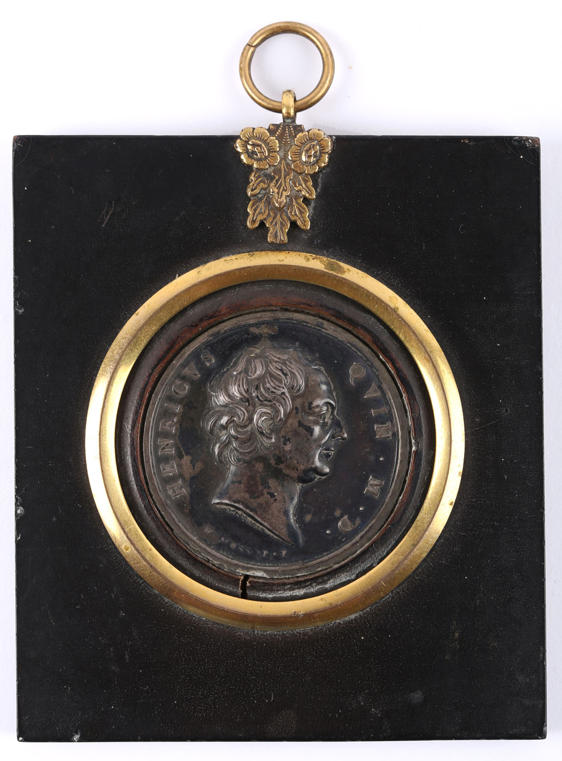 Medal of Irish physician Henry Quin (1717?91) by William Mossop (1751?1805), white metal medal,