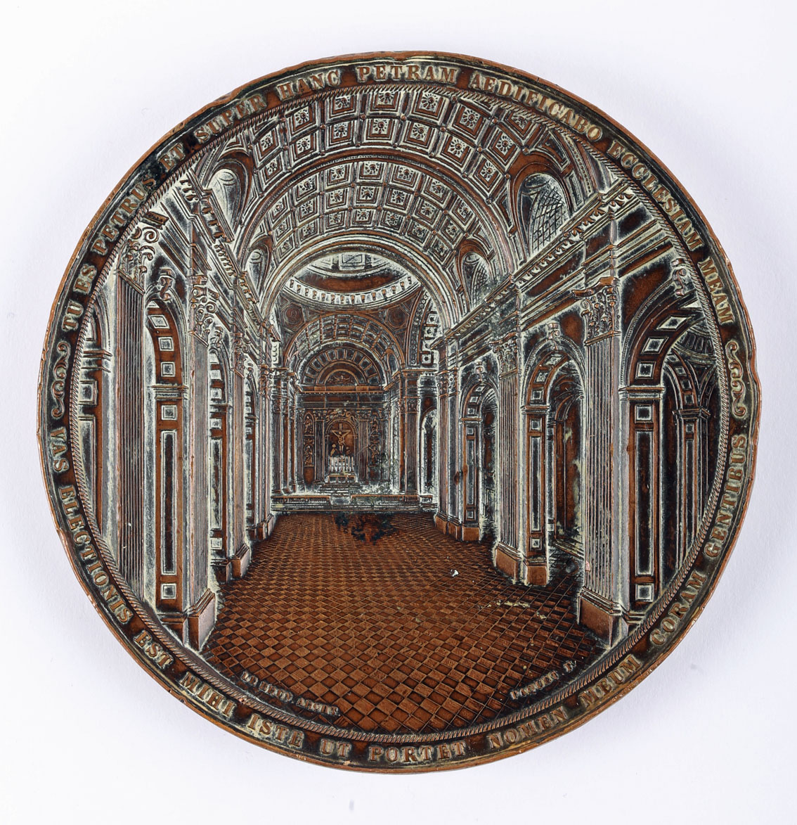 1864 Cathedral of St. Peter and St. Paul, Philadelphia medal, copper, 80 mm. 230g, by Anthony C. - Image 2 of 2