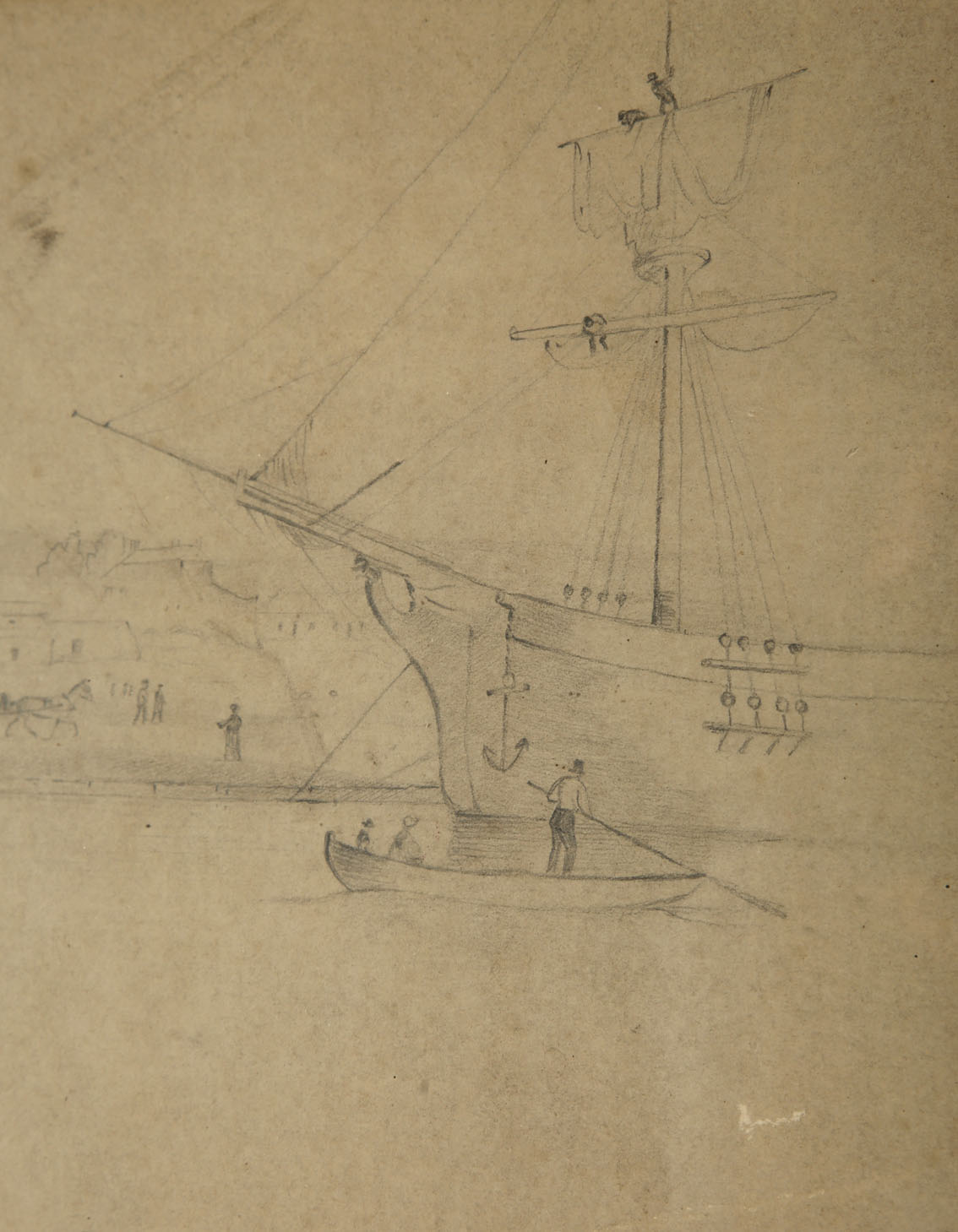 """William Roe (d1847) Irish Views of Cork City and environs Pencil on paper, sizes up to 13"""" x 21"""" (33 - Image 8 of 8"""