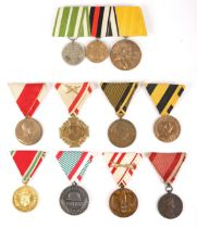 1873-1918 Collection of Austrian, Hungarian and imperial German medals. Austria General Campaign