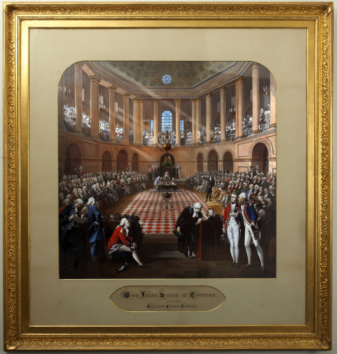 1790 The Irish House of Commons, The Great Parliament of Ireland. After H Barrand and J Hayter,