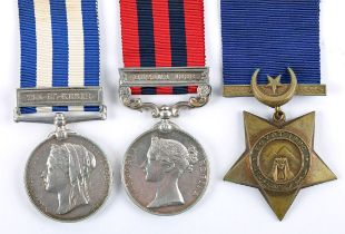 Group of three to Waterford native Private Collins, Royal Irish Regiment. Egypt Medal with Tel-el-