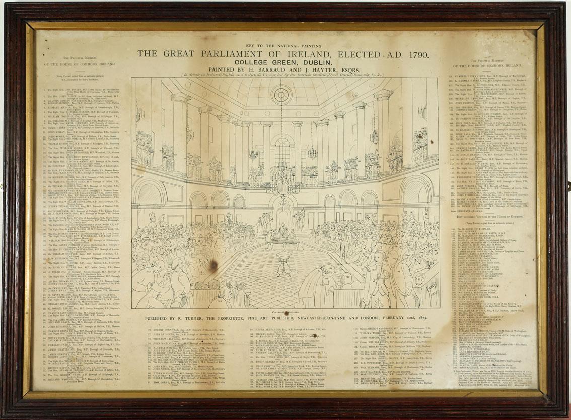 1790 The Irish House of Commons, The Great Parliament of Ireland. After H Barrand and J Hayter, - Image 3 of 3