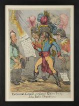 John Cawse. The Grand Consul of the Great Nation [Napoleon] Perusing John Bulls Dispatches!!!, S.