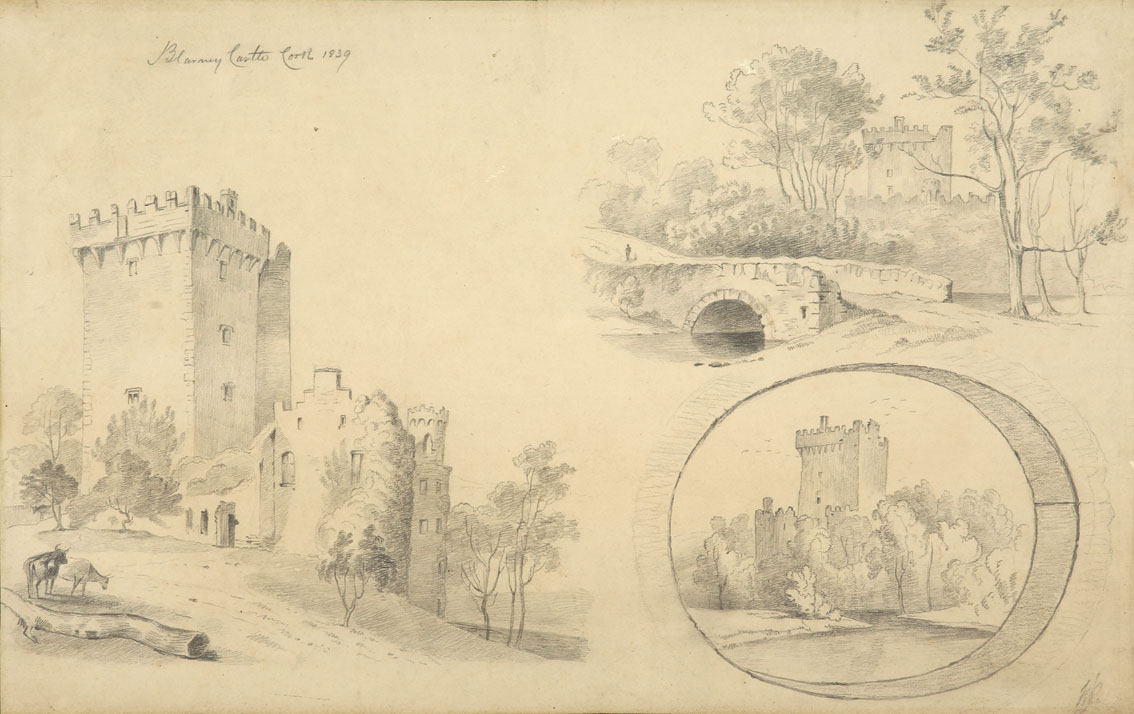 """William Roe (d1847) Irish Views of Cork City and environs Pencil on paper, sizes up to 13"""" x 21"""" (33 - Image 7 of 8"""