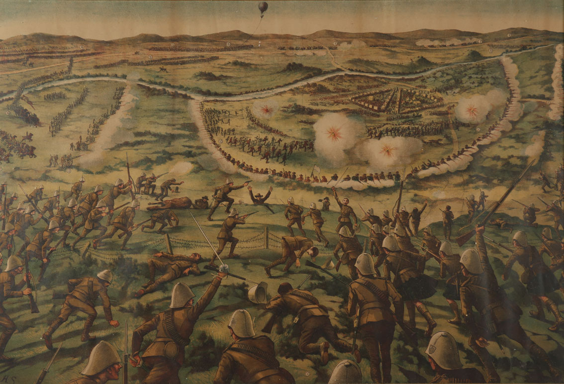 Boer War Battle of Paardeberg and Dashing Advance of the Canadians at Paardeberg, chromolithograph - Image 2 of 2