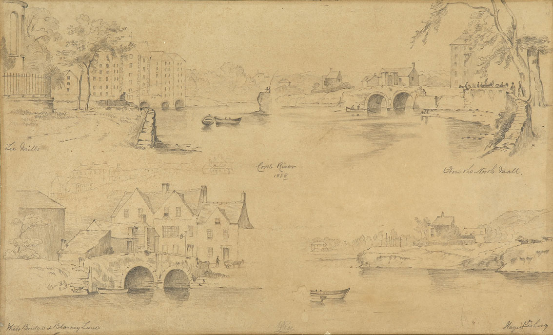 """William Roe (d1847) Irish Views of Cork City and environs Pencil on paper, sizes up to 13"""" x 21"""" (33 - Image 6 of 8"""