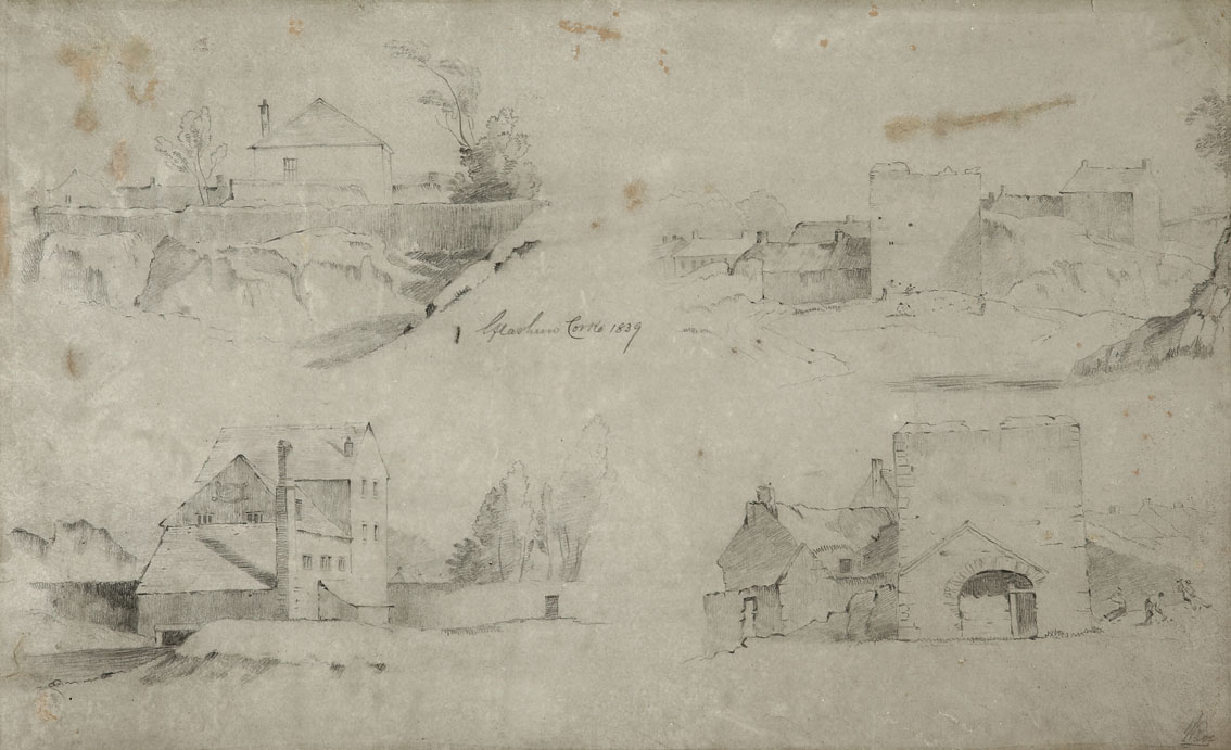 """William Roe (d1847) Irish Views of Cork City and environs Pencil on paper, sizes up to 13"""" x 21"""" (33 - Image 5 of 8"""