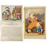 A collection of five late 18th and early 19th century hand-coloured, engraved cartoons