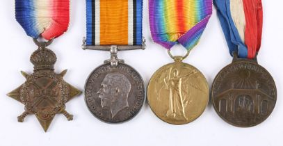 1914-18 Great War trio to Royal Marine casualty from Mayo. Trio and Empire Day medal to PO.556-S-