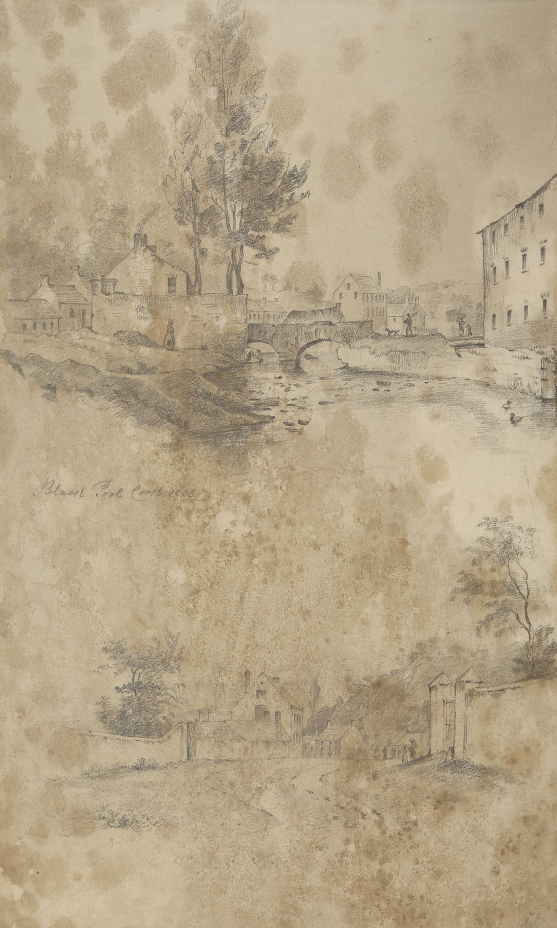 """William Roe (d1847) Irish Views of Cork City and environs Pencil on paper, sizes up to 13"""" x 21"""" (33 - Image 4 of 8"""