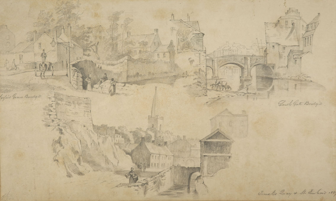 """William Roe (d1847) Irish Views of Cork City and environs Pencil on paper, sizes up to 13"""" x 21"""" (33 - Image 3 of 8"""