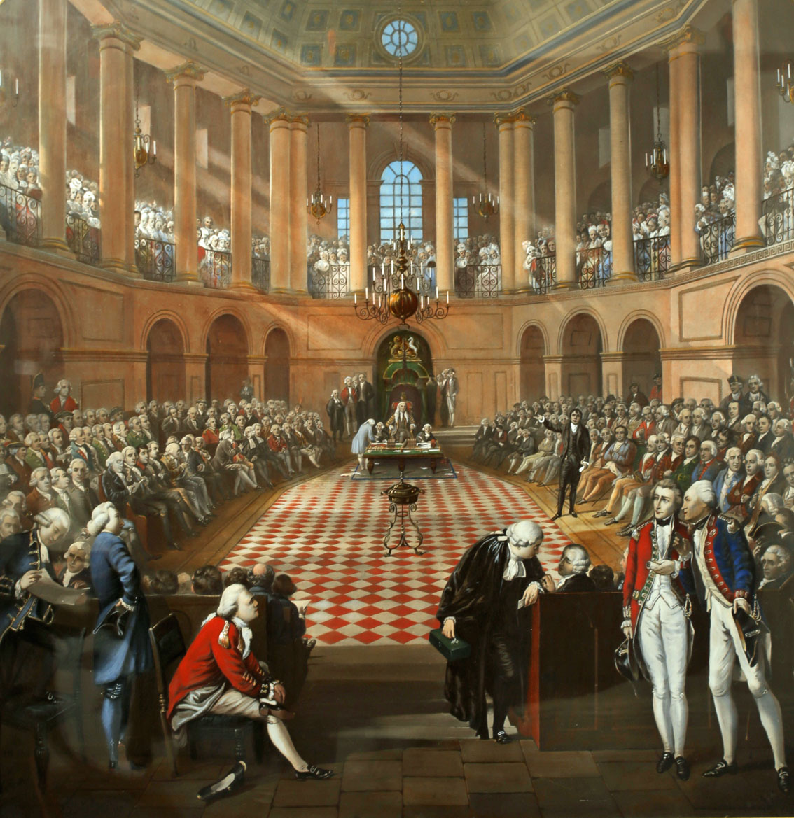 1790 The Irish House of Commons, The Great Parliament of Ireland. After H Barrand and J Hayter, - Image 2 of 3
