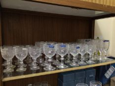 An extensive collection on three shelves of Villeroy & Boch 'Miss Desiree' laurel leaf pattern